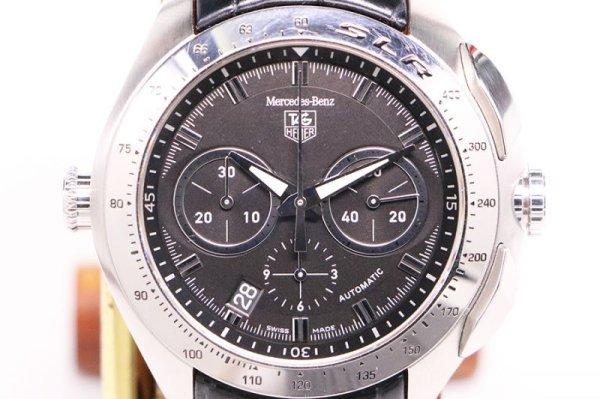 タグホイヤー SLR CAG2110 クロノグラフ 黒文字盤 表面
