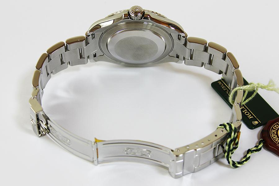ロレックス ヨットマスター ロレジウム 16622 M654643 銀文字盤 ローレット
