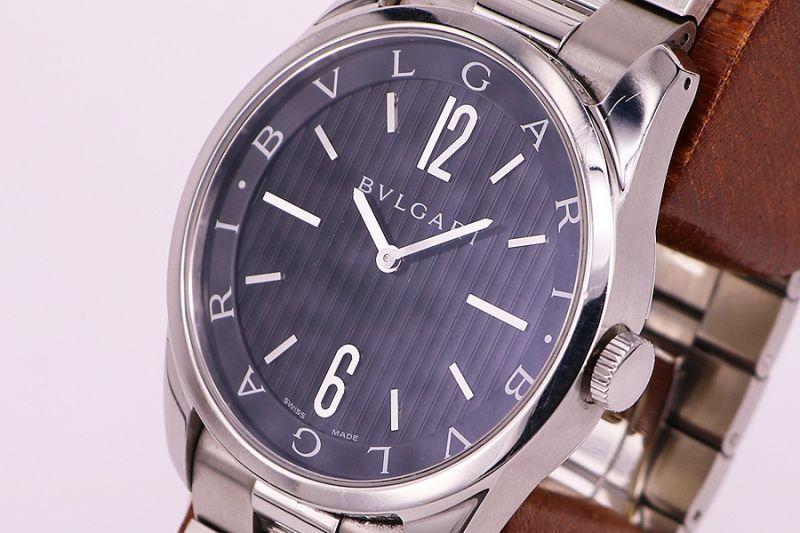 low priced 98118 4f31e ブルガリ ソロテンポ ST42S 黒文字盤