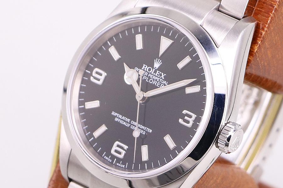 watch 8acc3 a8aa0 ロレックス 114270 D345173 エクスプローラーI 黒文字盤